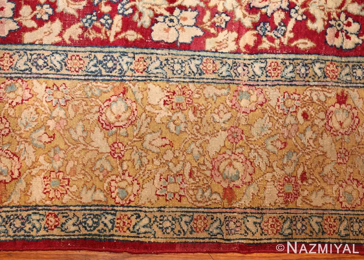 antique indian agra carpet 42109 border Nazmiyal