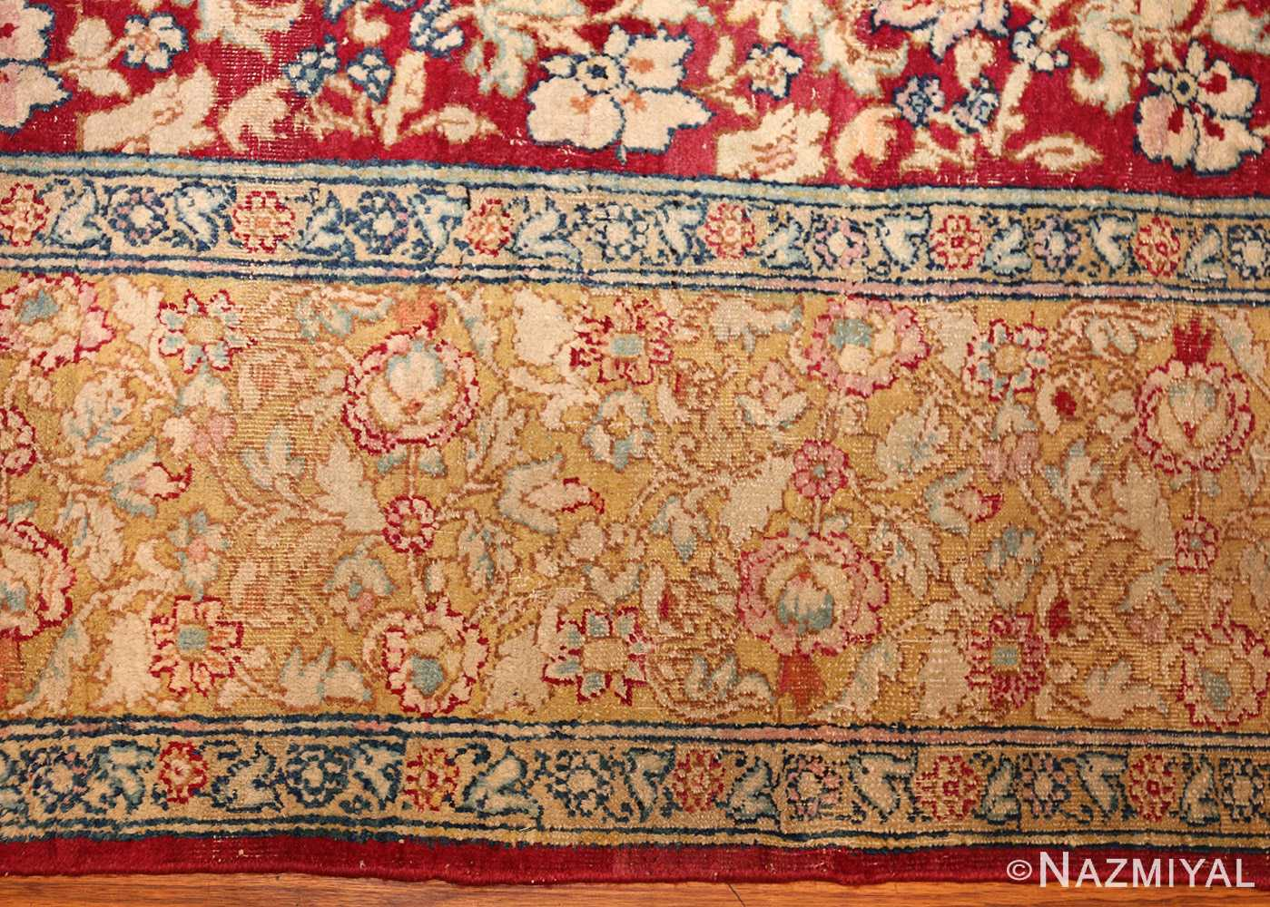 antique indian agra carpet 42109 border Nazmiyal