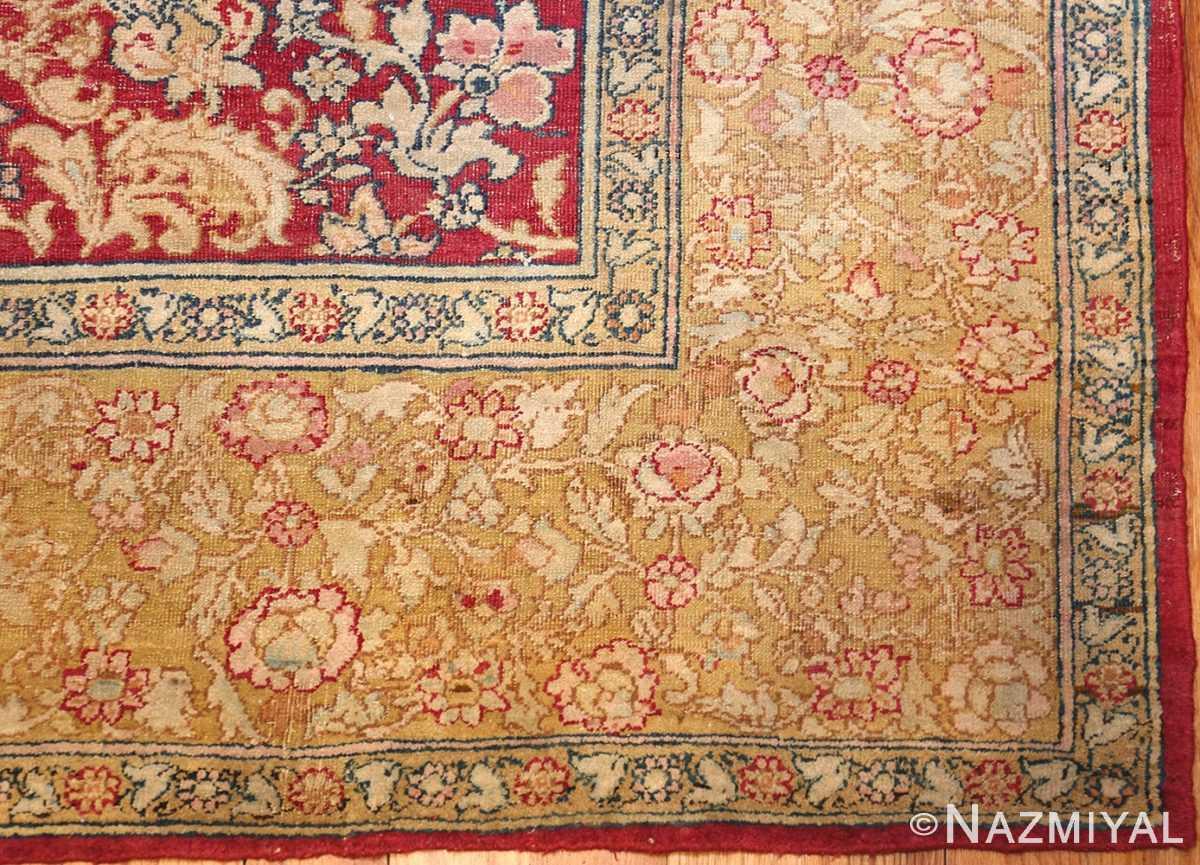 antique indian agra carpet 42109 corner Nazmiyal