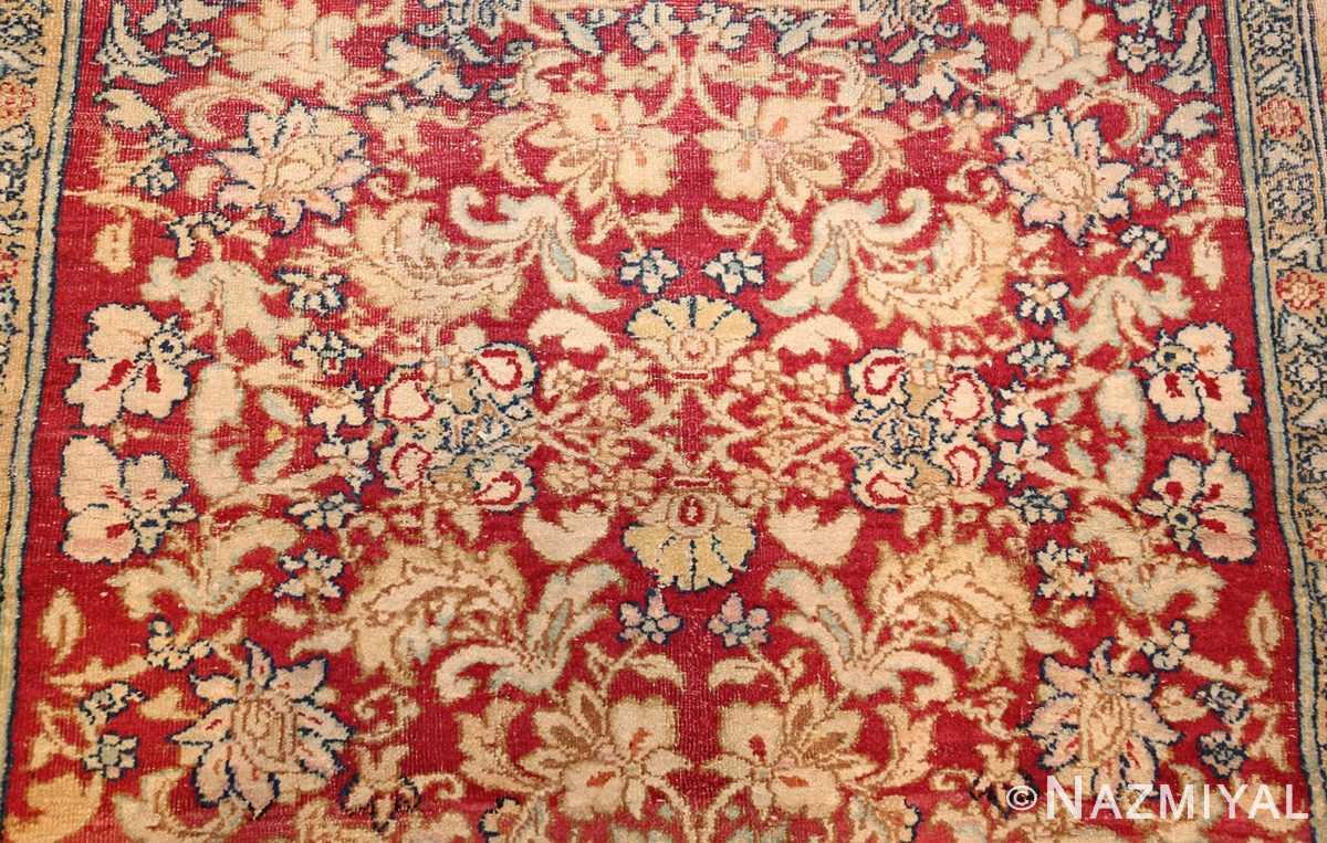 antique indian agra carpet 42109 field Nazmiyal