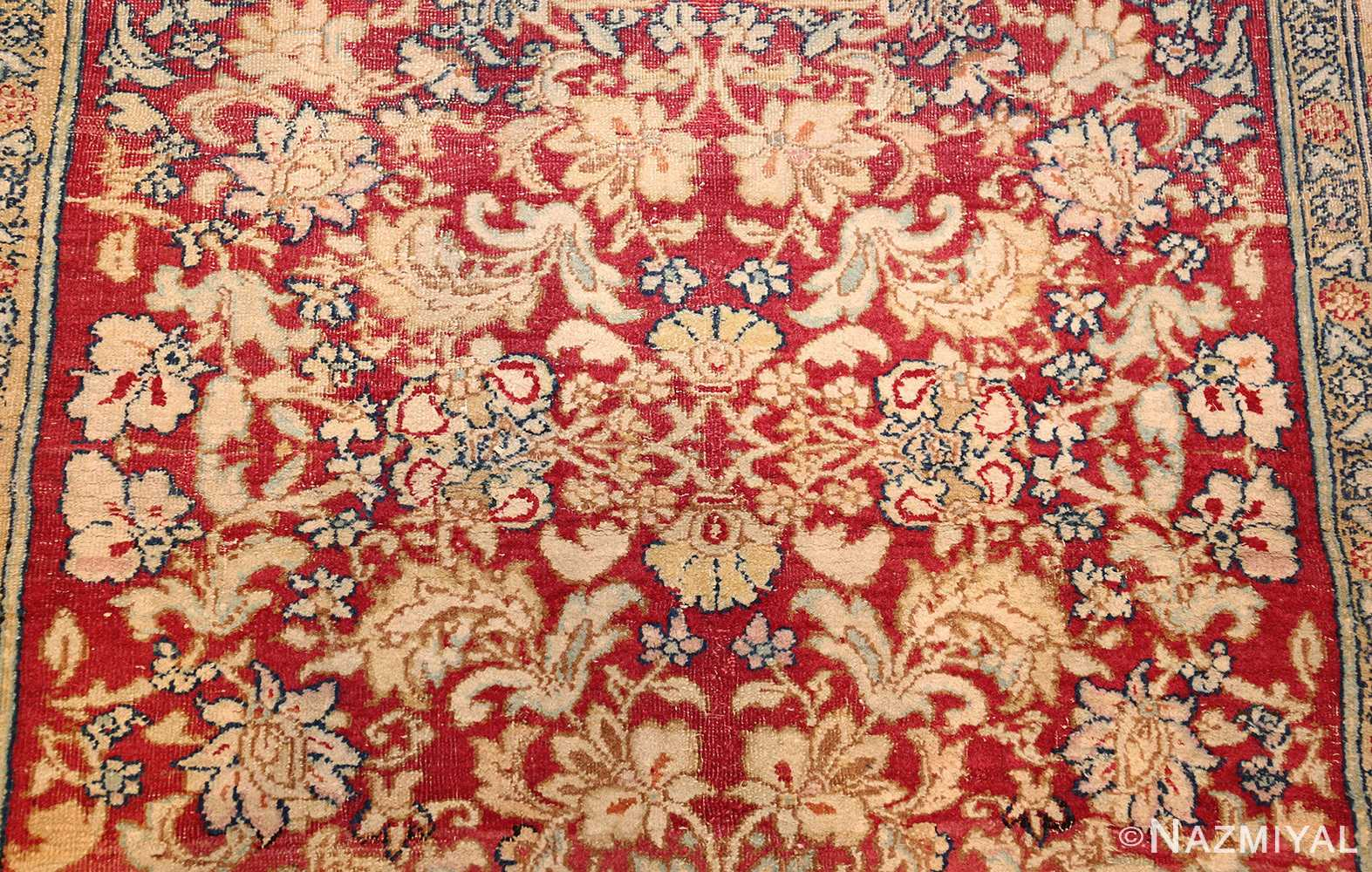 antique indian agra carpet 42109 field Nazmiyal
