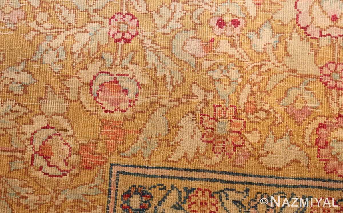 antique indian agra carpet 42109 weave Nazmiyal