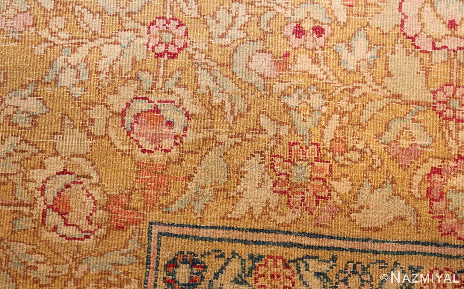 antique indian agra carpet 42109 weave Nazmiyal