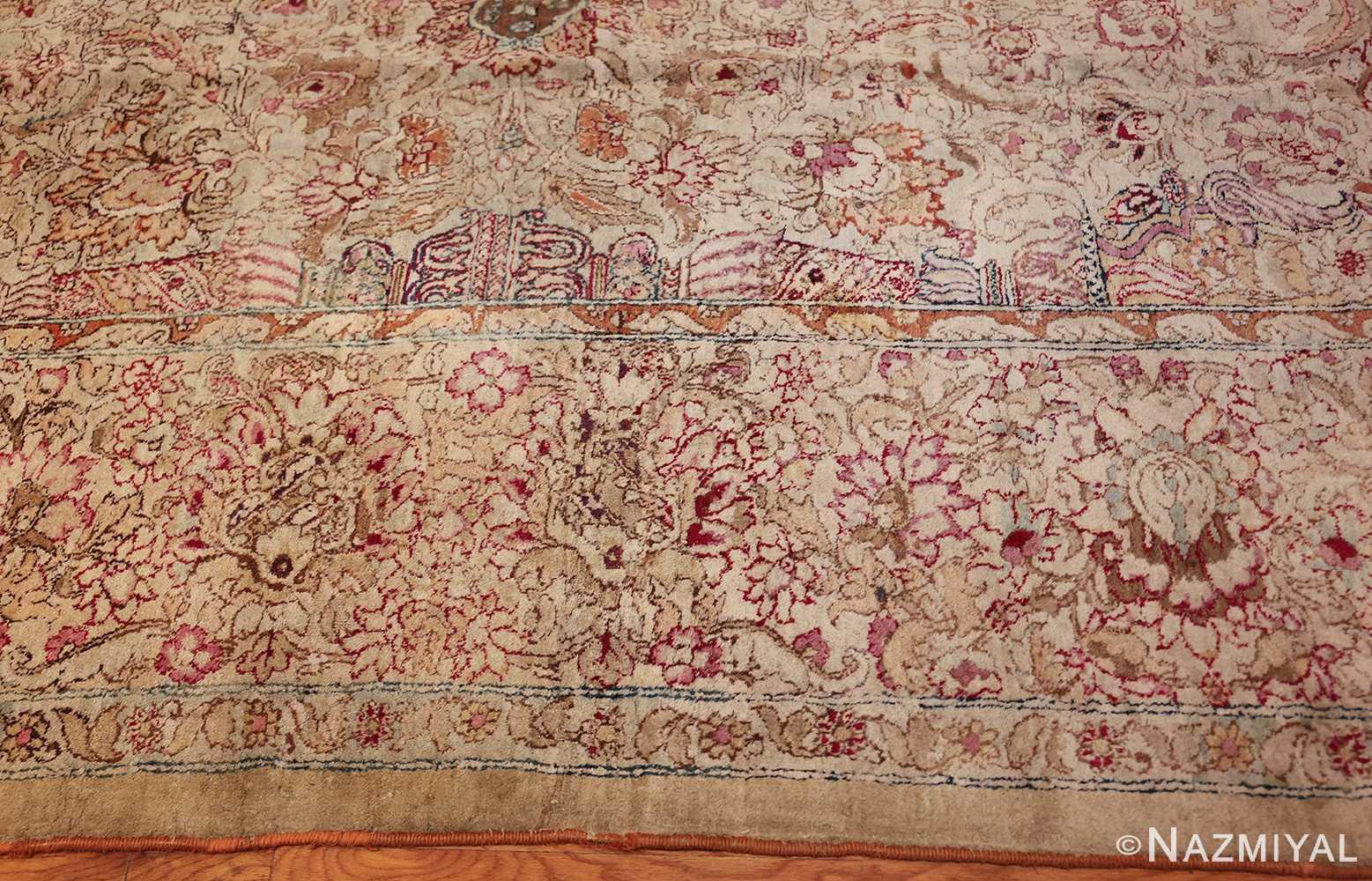 antique indian agra oriental rug 40535 border Nazmiyal