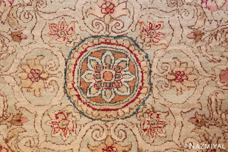 antique indian agra oriental rug 40535 center Nazmiyal