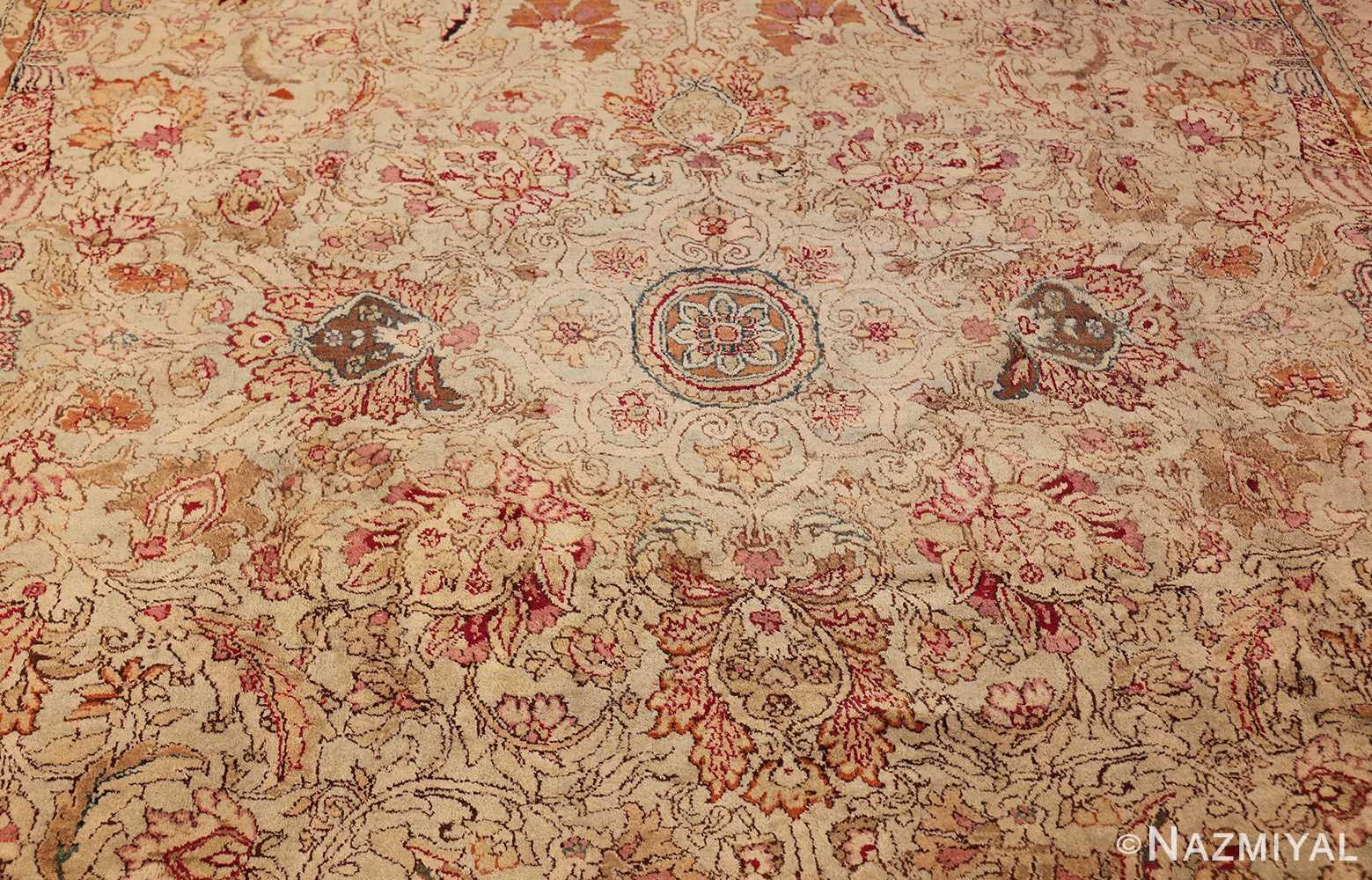 antique indian agra oriental rug 40535 field Nazmiyal