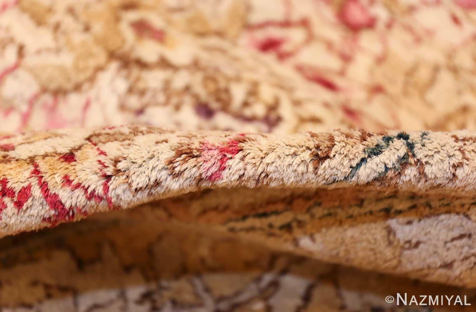 antique indian agra oriental rug 40535 pile Nazmiyal