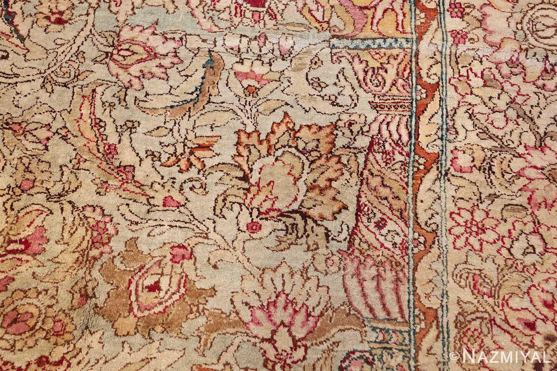 antique indian agra oriental rug 40535 side Nazmiyal