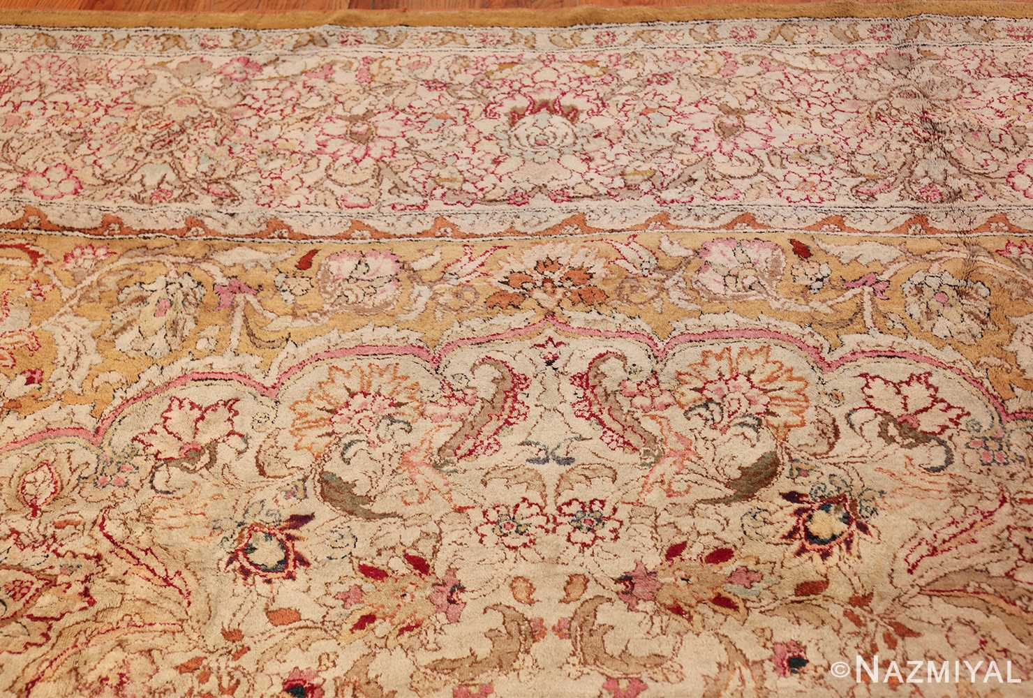 antique indian agra oriental rug 40535 top Nazmiyal