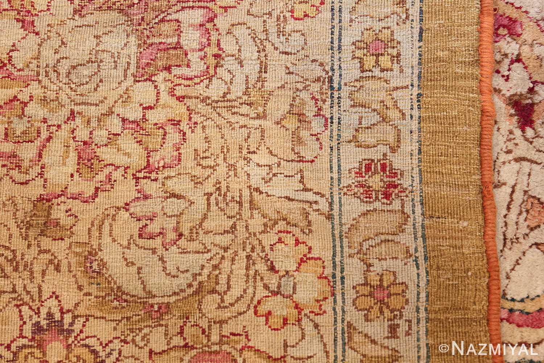 antique indian agra oriental rug 40535 weave Nazmiyal