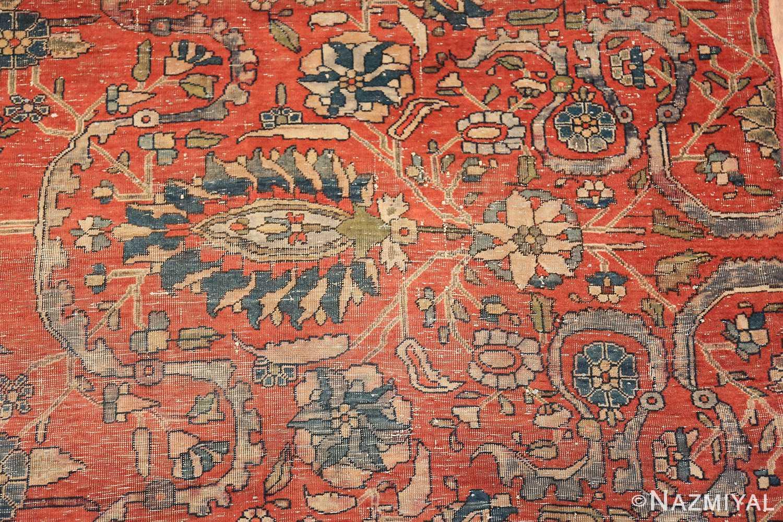 antique kashan rug fragment 2851 design Nazmiyal