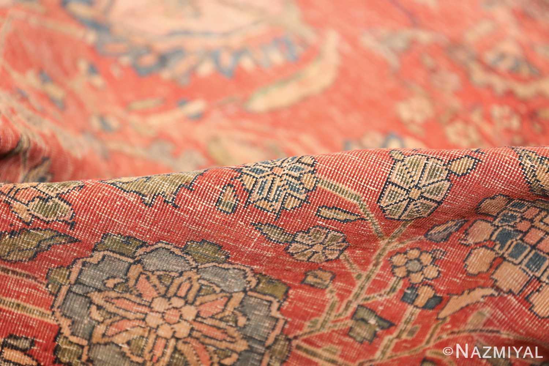 antique kashan rug fragment 2851 pile Nazmiyal