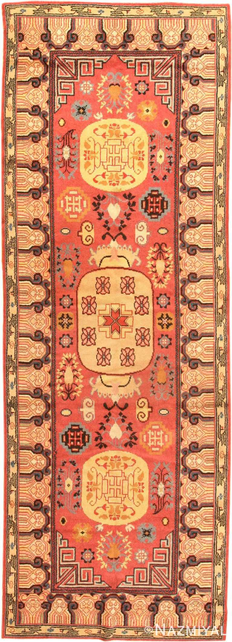 antique khotan samarkand rug 41507 Nazmiyal
