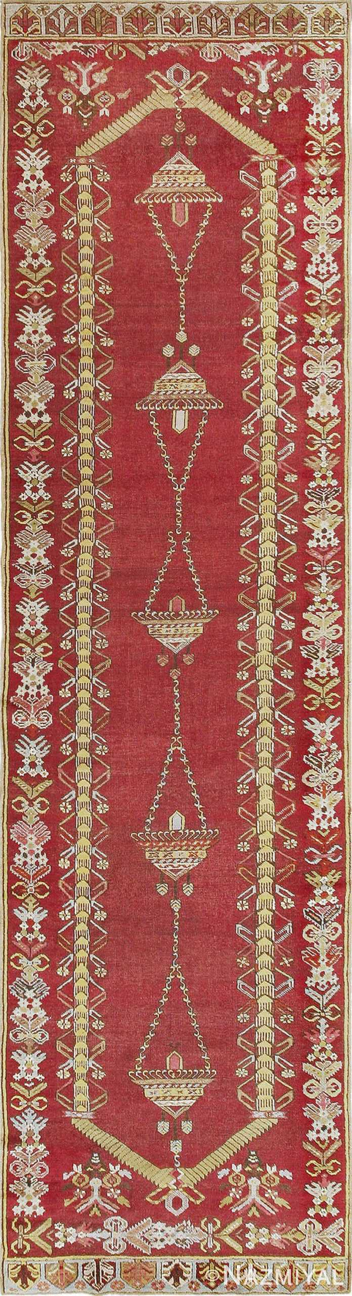 Antique Turkish Kirshehir Runner #2389 by Nazmiyal Antique Rugs