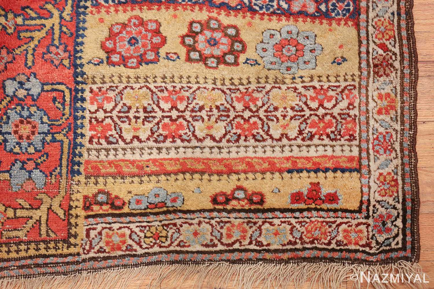 antique kurdish bidjar persian sampler rug 40485 corner Nazmiyal