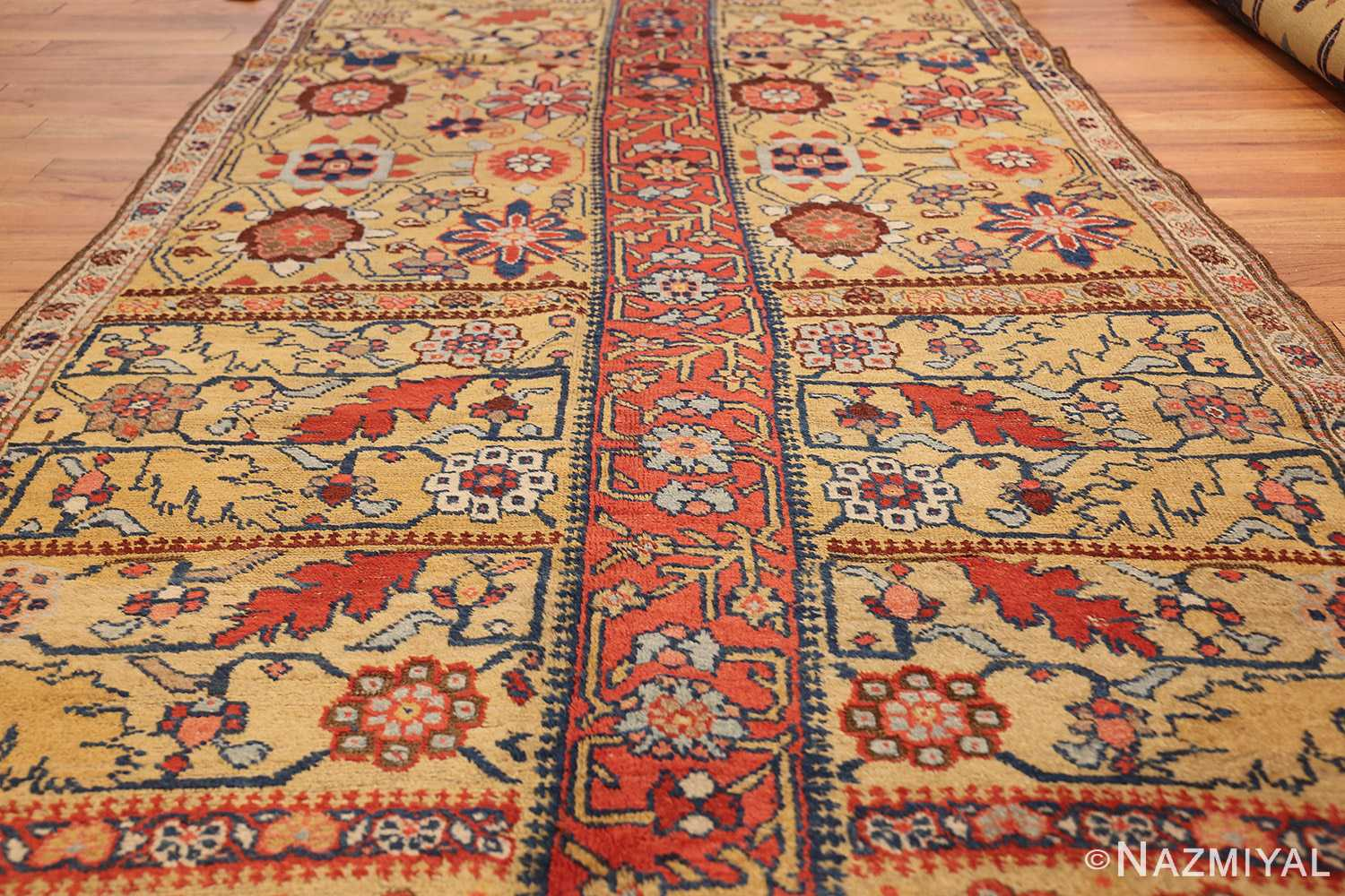 antique kurdish bidjar persian sampler rug 40485 field Nazmiyal