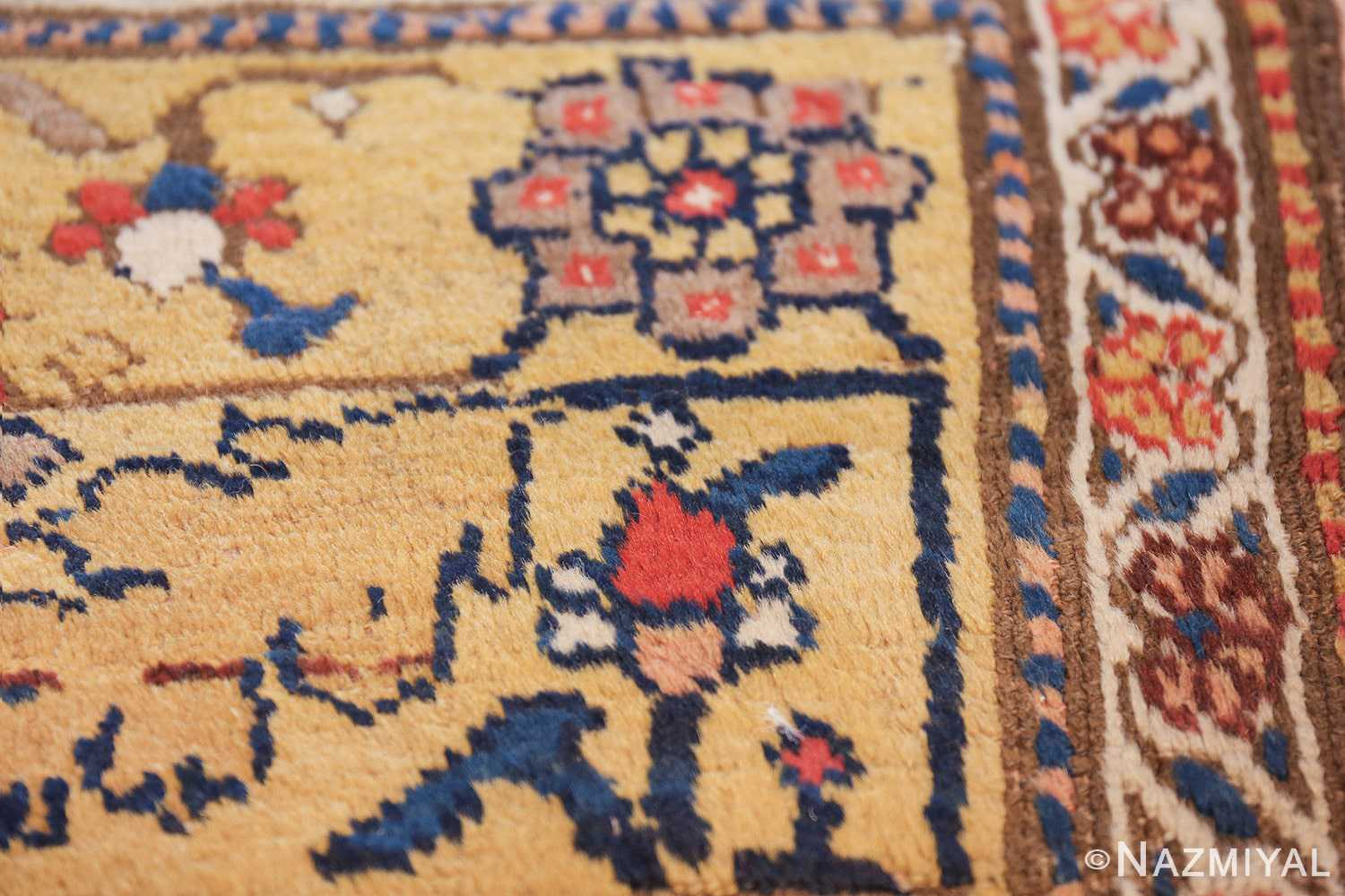 antique kurdish bidjar persian sampler rug 40485 flower Nazmiyal