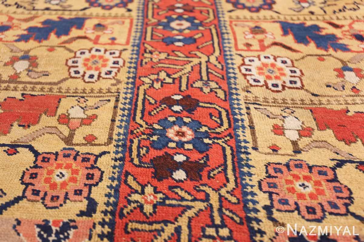 antique kurdish bidjar persian sampler rug 40485 lines Nazmiyal