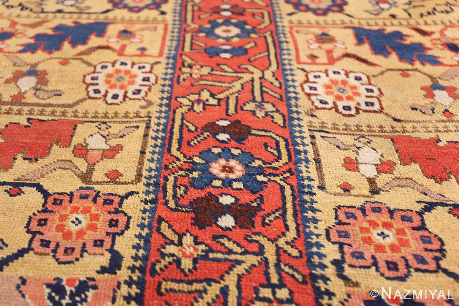 antique kurdish bidjar persian sampler rug 40485 lines Nazmiyal