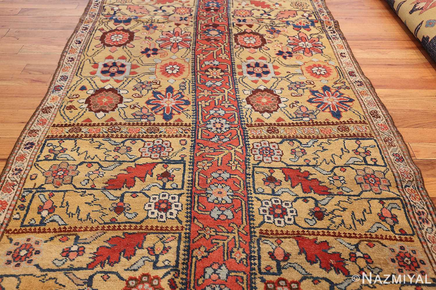antique kurdish bidjar persian sampler rug 40485 middle Nazmiyal