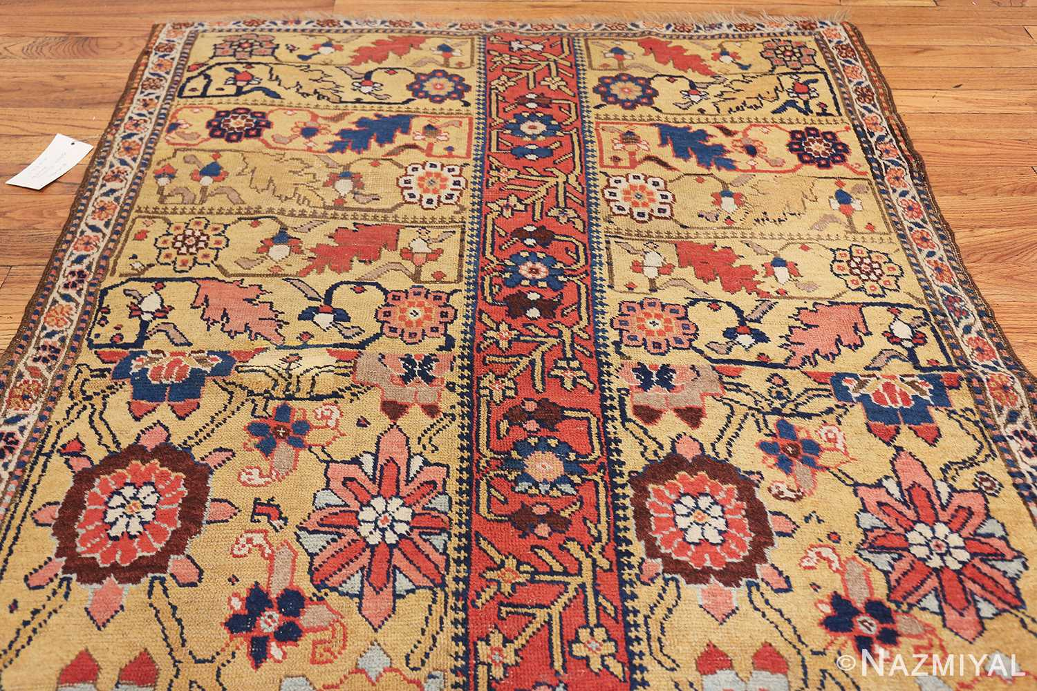 antique kurdish bidjar persian sampler rug 40485 top Nazmiyal