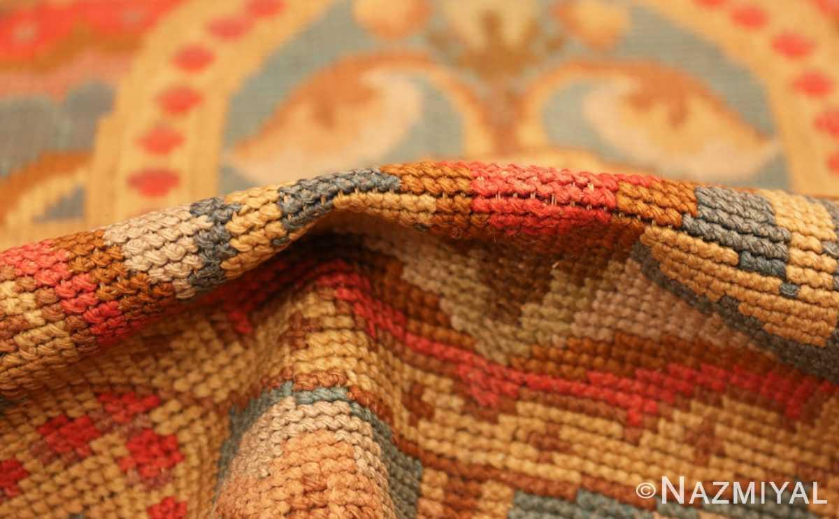 antique needlepoint english rug 2633 pile Nazmiyal