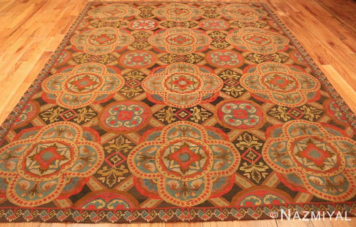 antique needlepoint english rug 2633 whole Nazmiyal