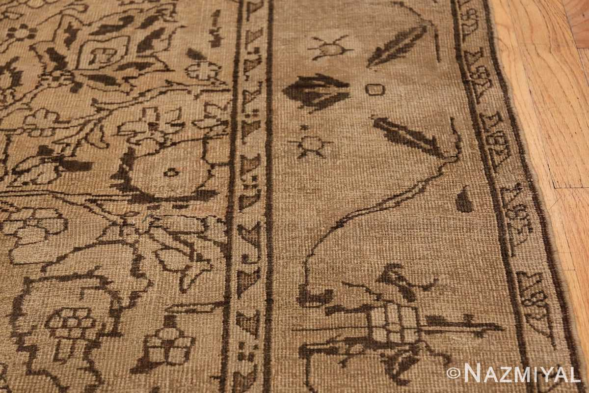 Antique Small Size Earth Tone Indian Amritsar Rug 41656 Border Design Nazmiyal