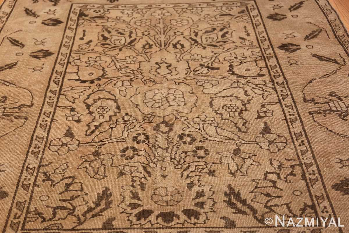 Antique Small Size Earth Tone Indian Amritsar Rug 41656 Field Design Nazmiyal