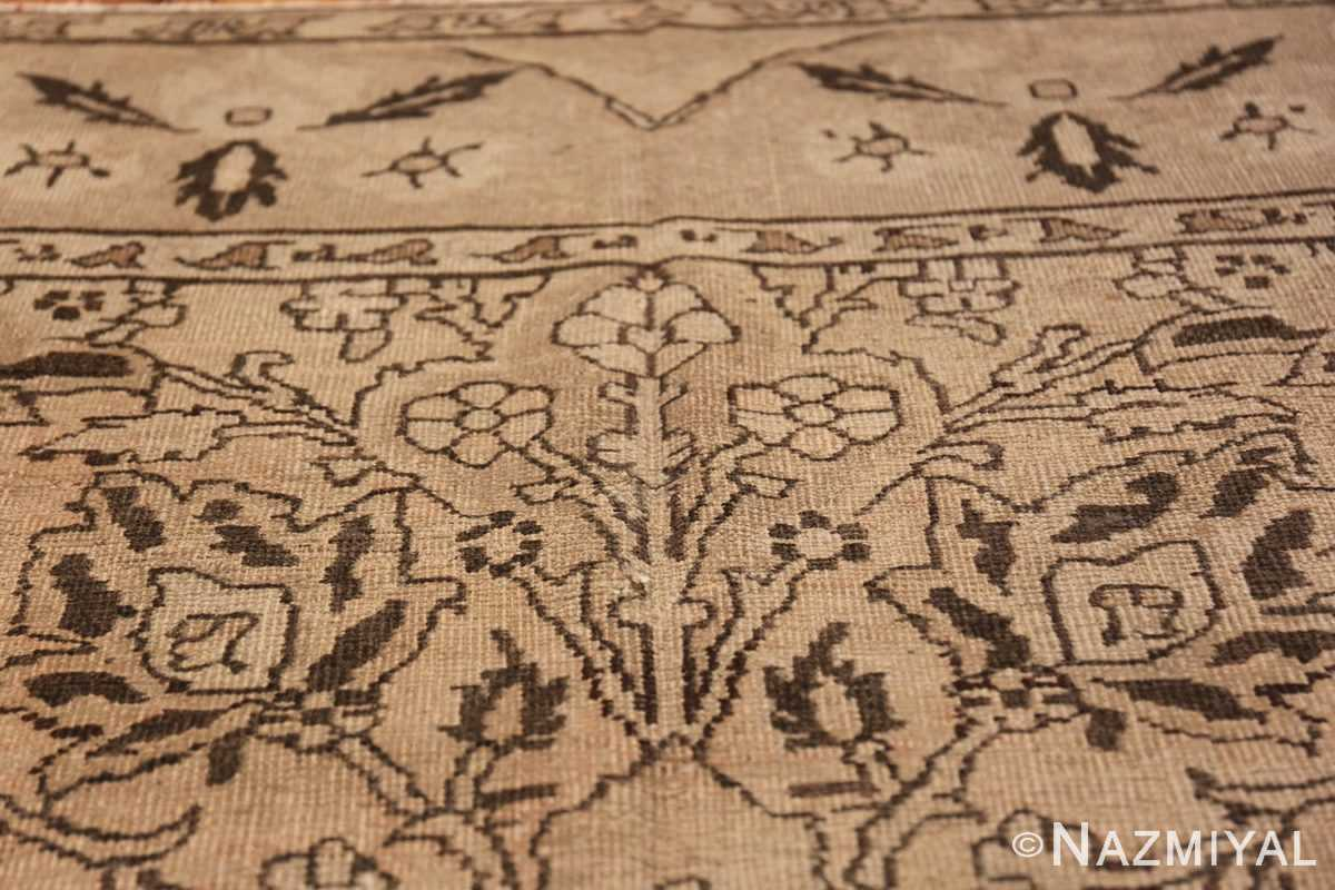 Antique Small Size Earth Tone Indian Amritsar Rug 41656 Flower Bunch Nazmiyal
