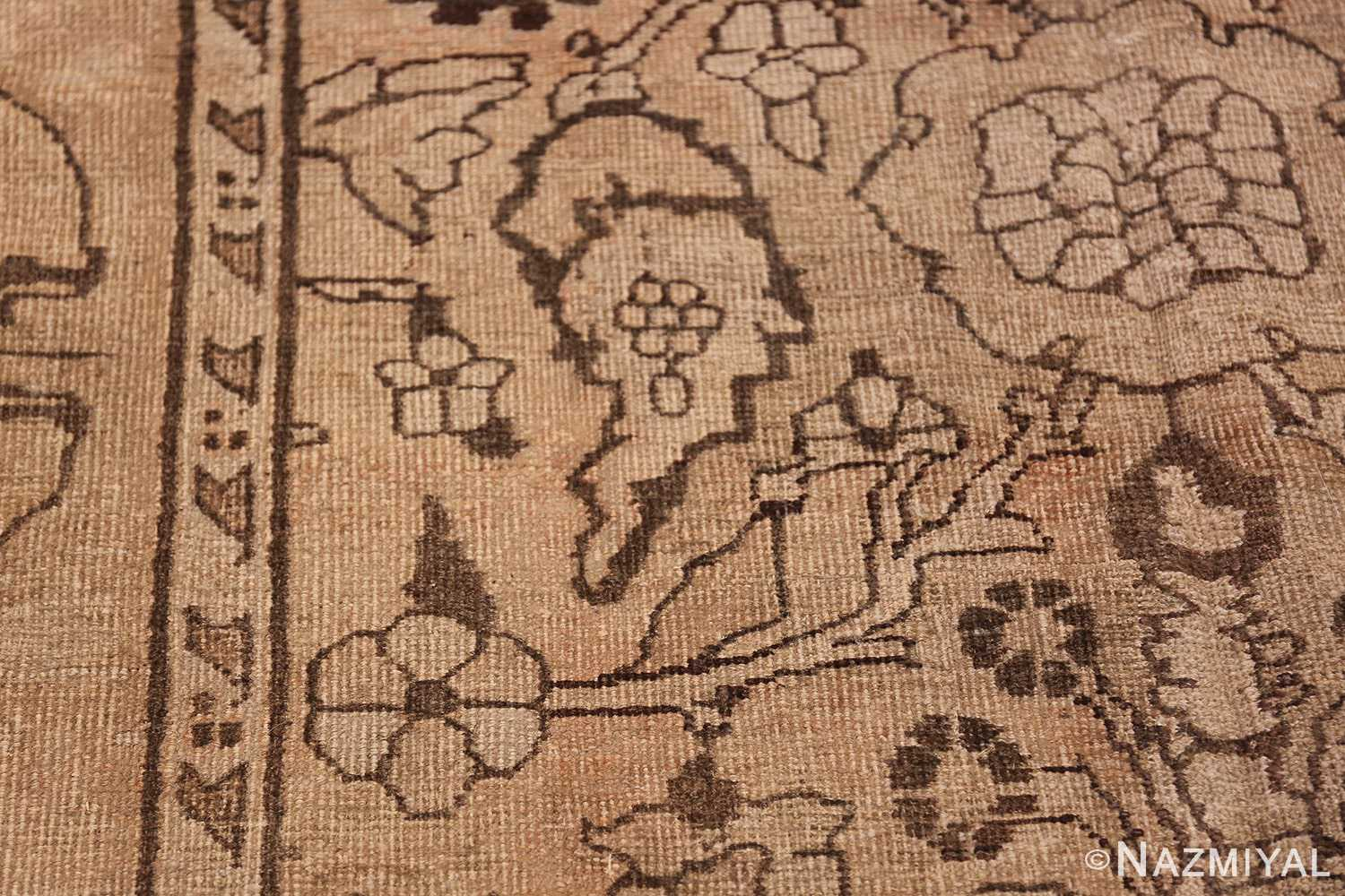 Antique Small Size Earth Tone Indian Amritsar Rug 41656 Lonely Branch Nazmiyal