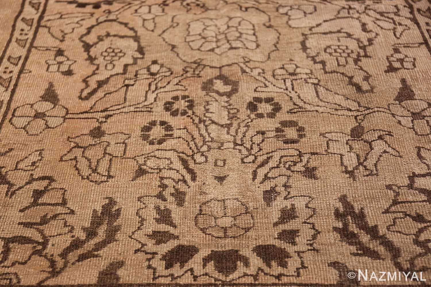 Antique Small Size Earth Tone Indian Amritsar Rug 41656 Lower Design Nazmiyal