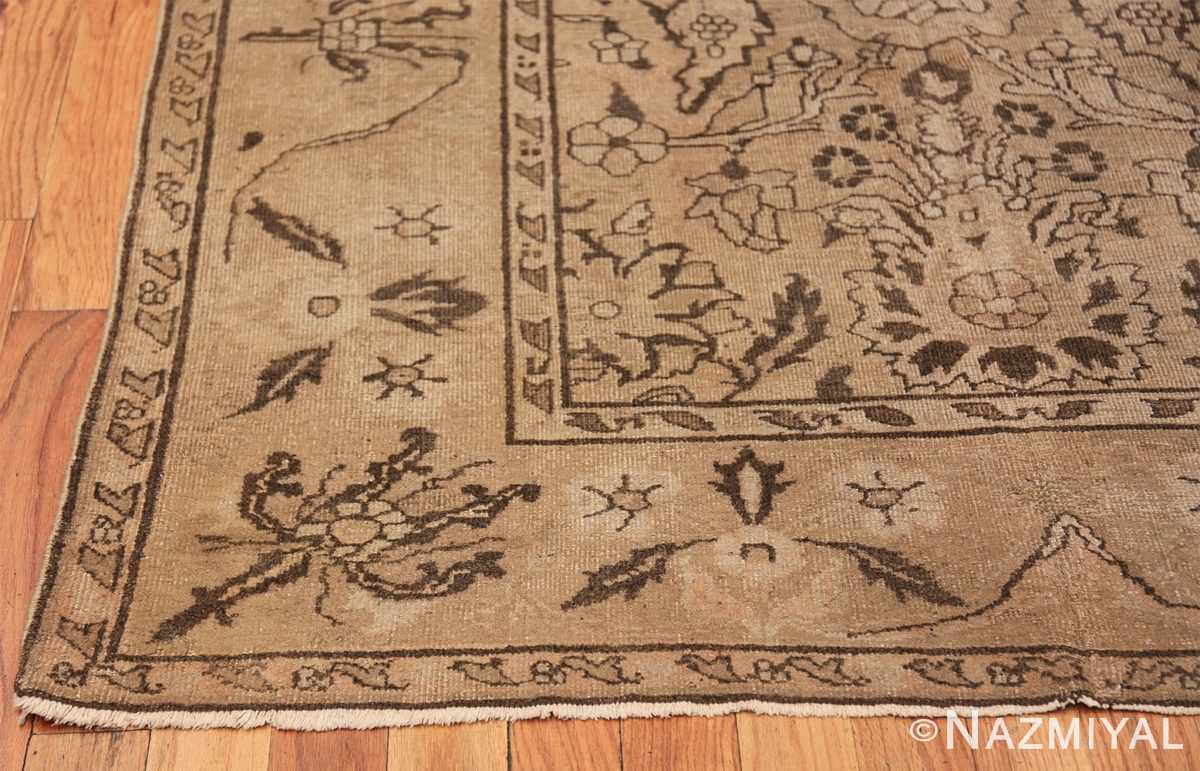 Antique Small Size Earth Tone Indian Amritsar Rug 41656 Side Corner Nazmiyal