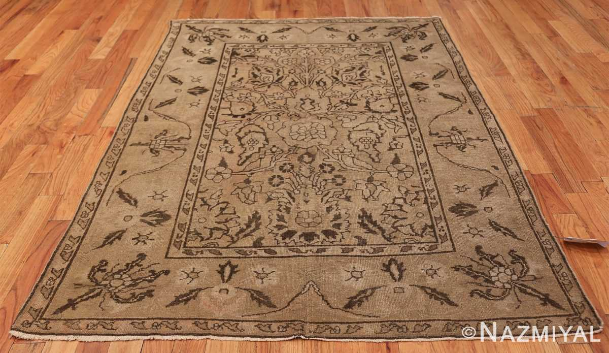 Antique Small Size Earth Tone Indian Amritsar Rug 41656 Whole Design Nazmiyal