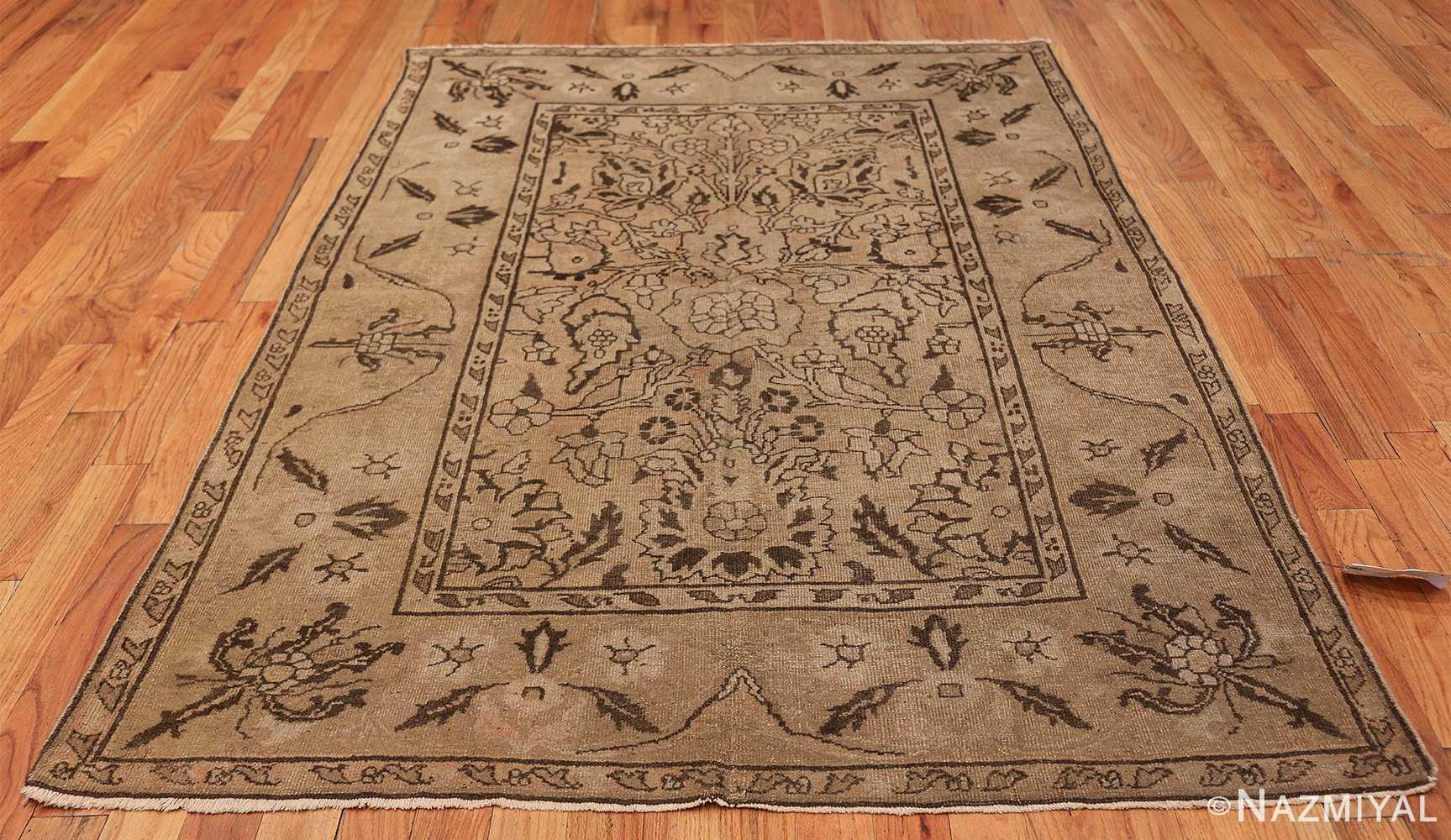 Antique Small Size Earth Tone Indian Amritsar Rug 41656 Whole Design Nazmiyal