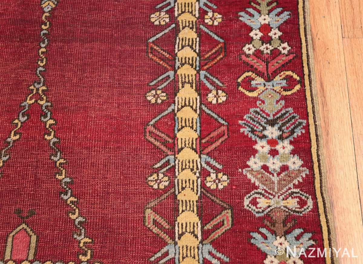 Antique Turkish kirshehir Runner 2389 Blue Border Nazmiyal