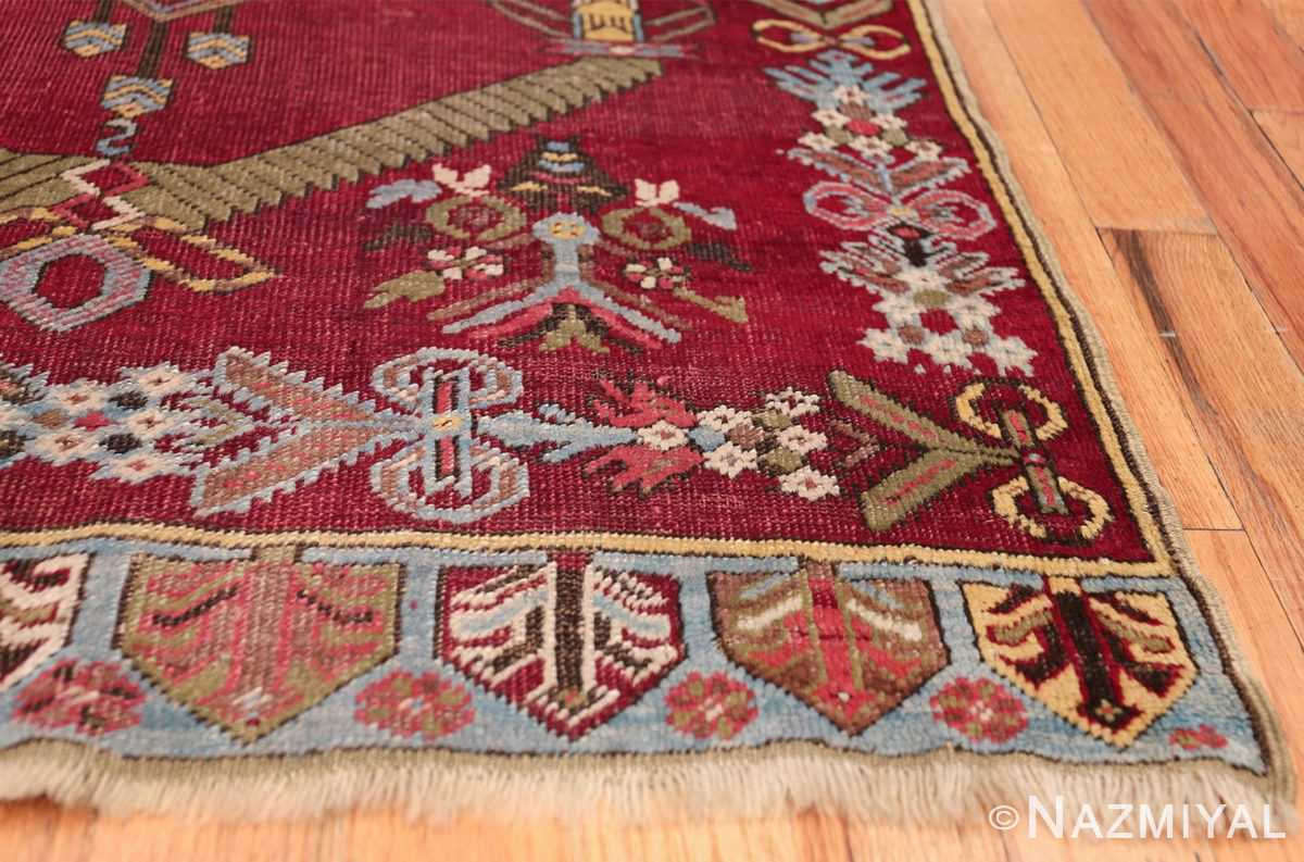 Antique Turkish kirshehir Runner 2389 Side Corner Nazmiyal