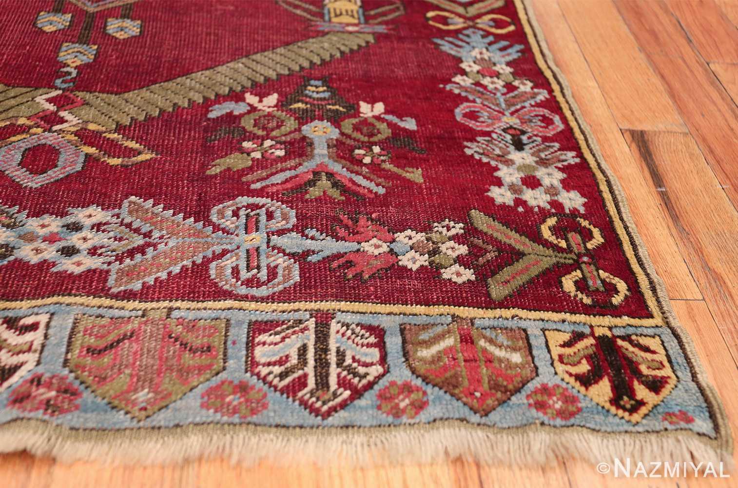 Antique Turkish kirshehir Runner 2389 Side Corner Nazmiyal