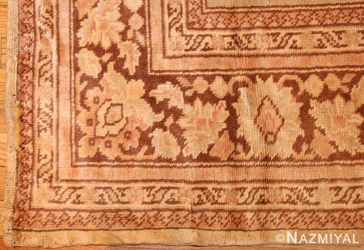 antique turkish oushak rug 2675 border Nazmiyal
