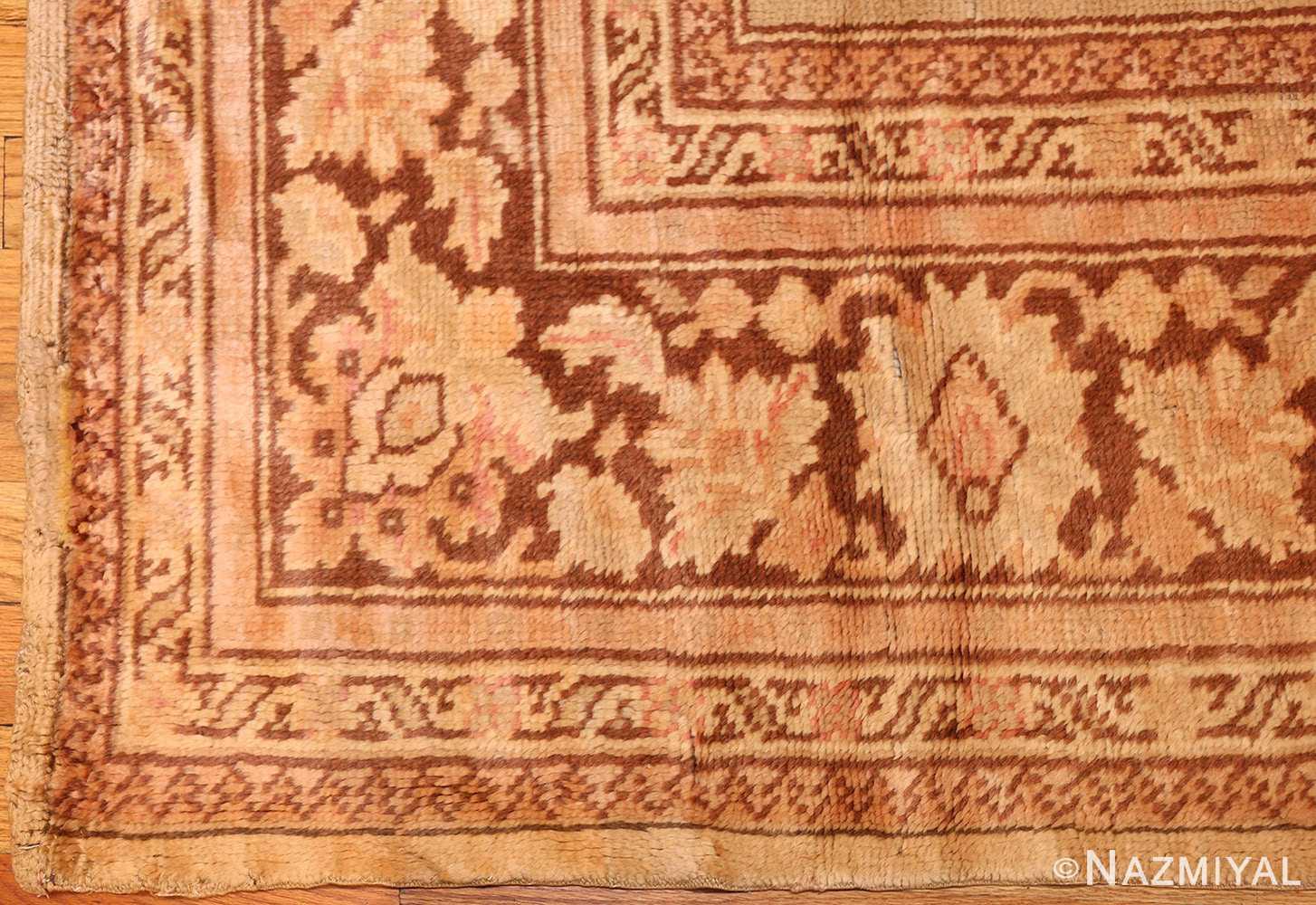antique turkish oushak rug 2675 border Nazmiyal