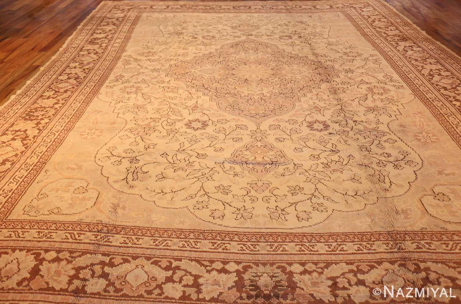 antique turkish oushak rug 2675 full Nazmiyal
