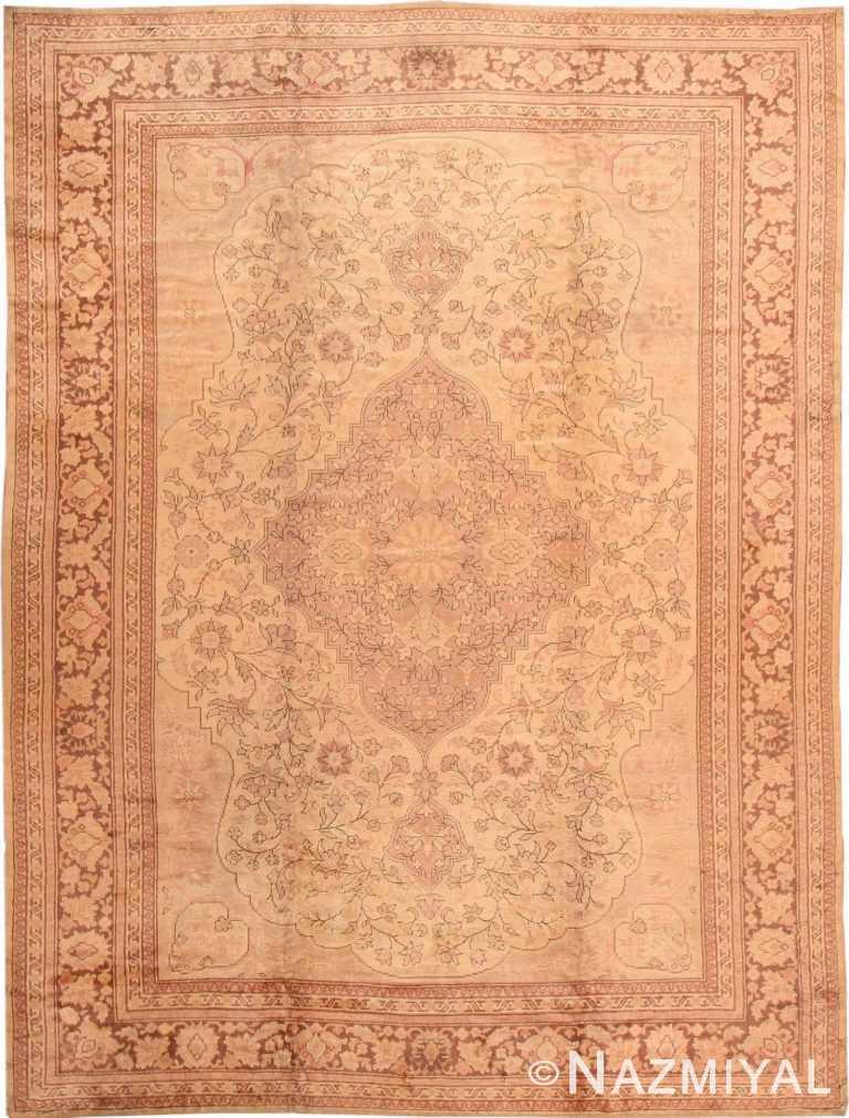Antique Turkish Oushak Rug #2675 by Nazmiyal Antique Rugs