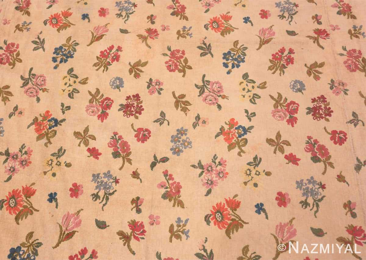 Background Antique French savonnerie design chenille rug 3422 by Nazmiyal