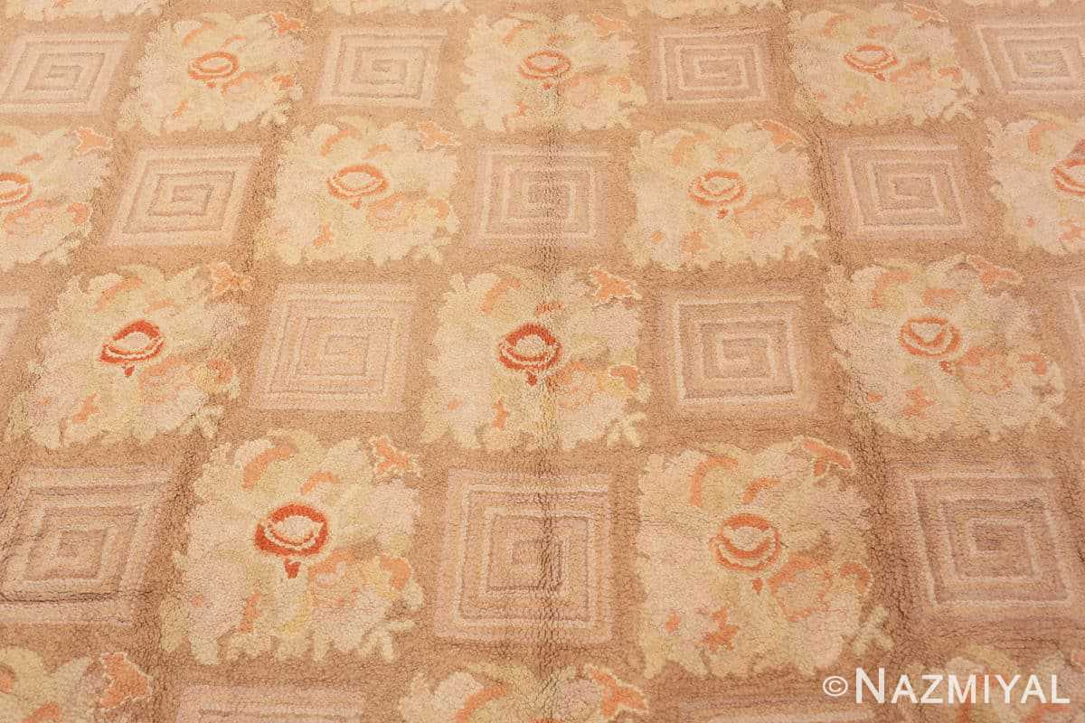 Background floral pattern room size Antique American hooked rug 2142 by Nazmiyal