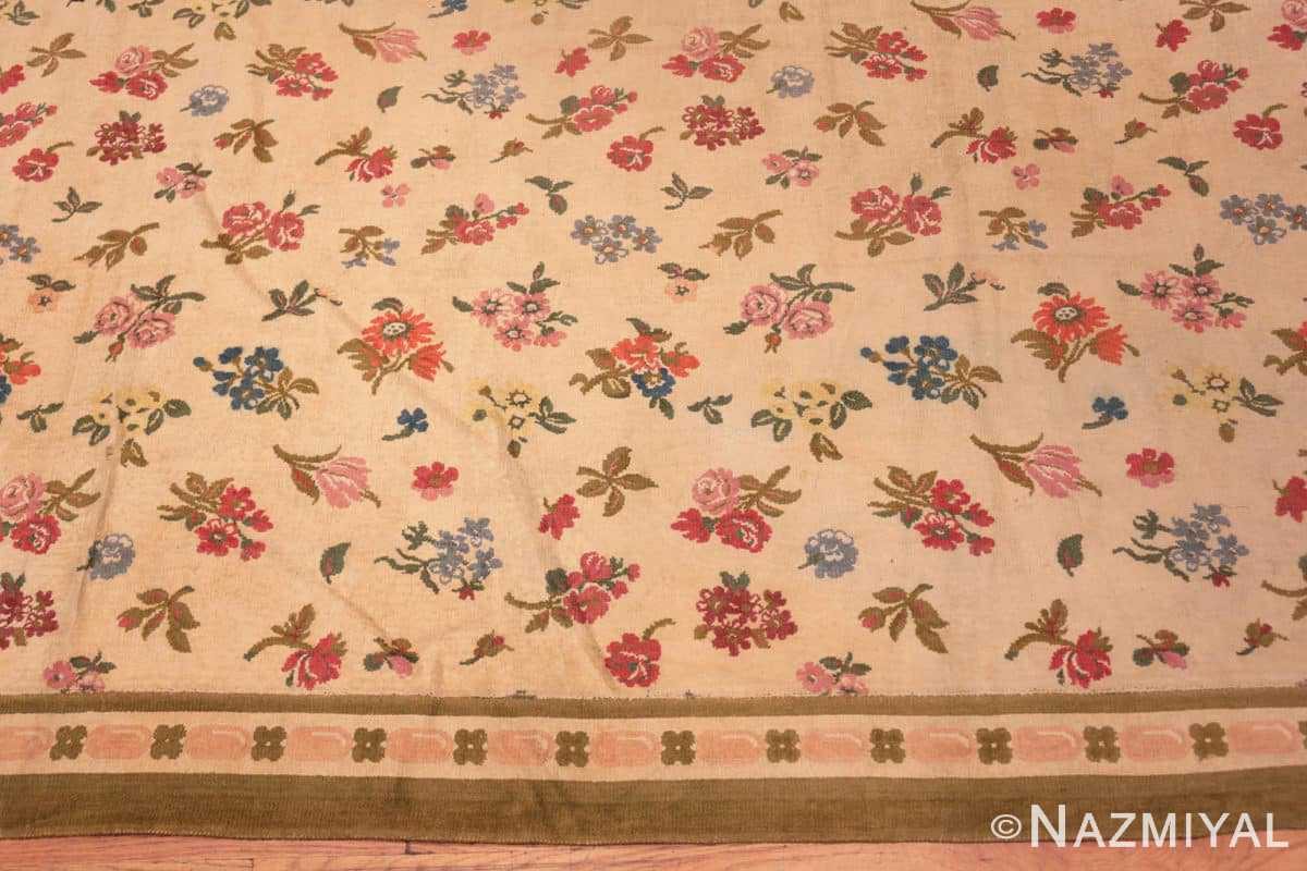 Border Antique French savonnerie design chenille rug 3422 by Nazmiyal