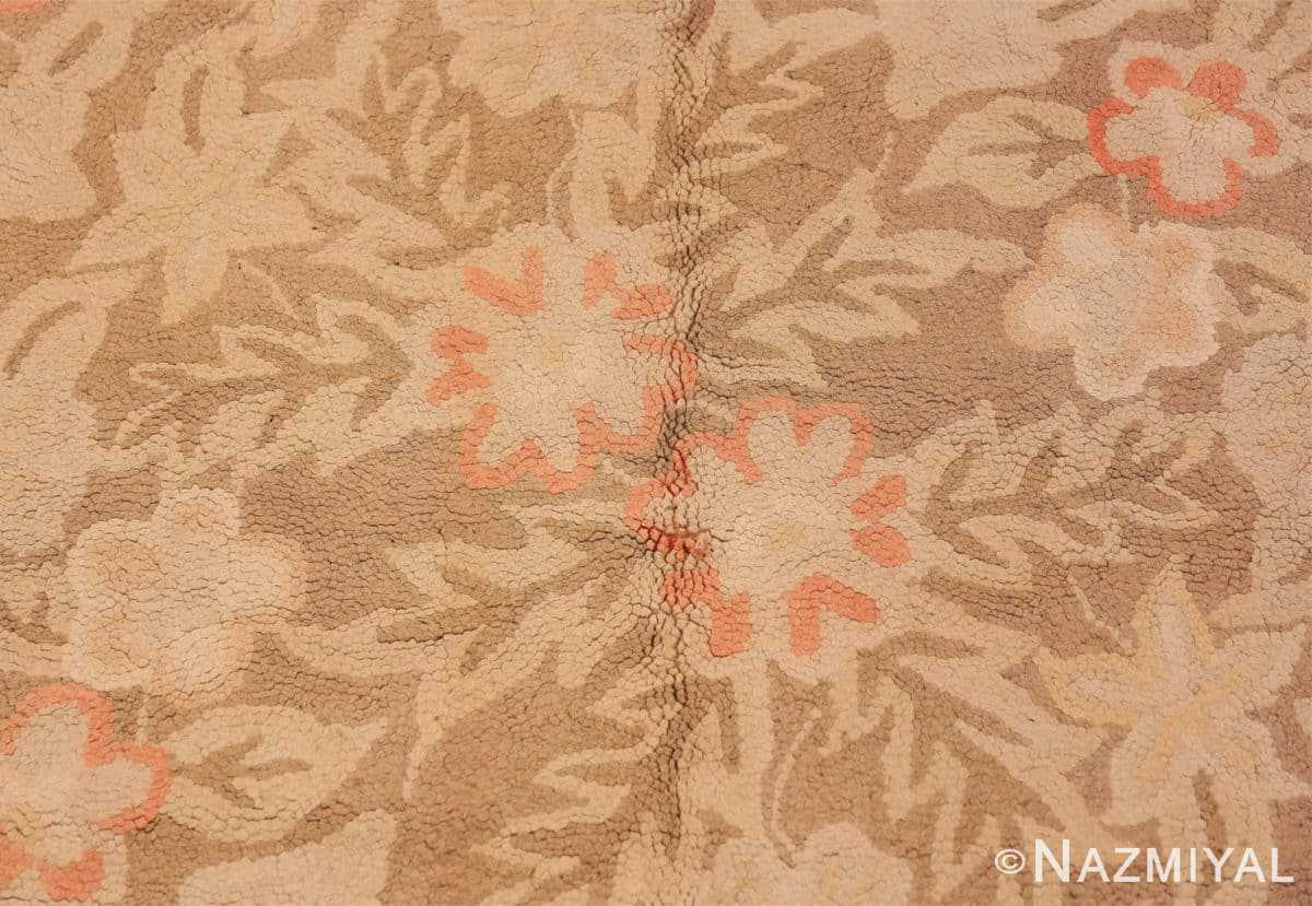 Close-up Large Antique American hooked rug 2030 by Nazmiyal