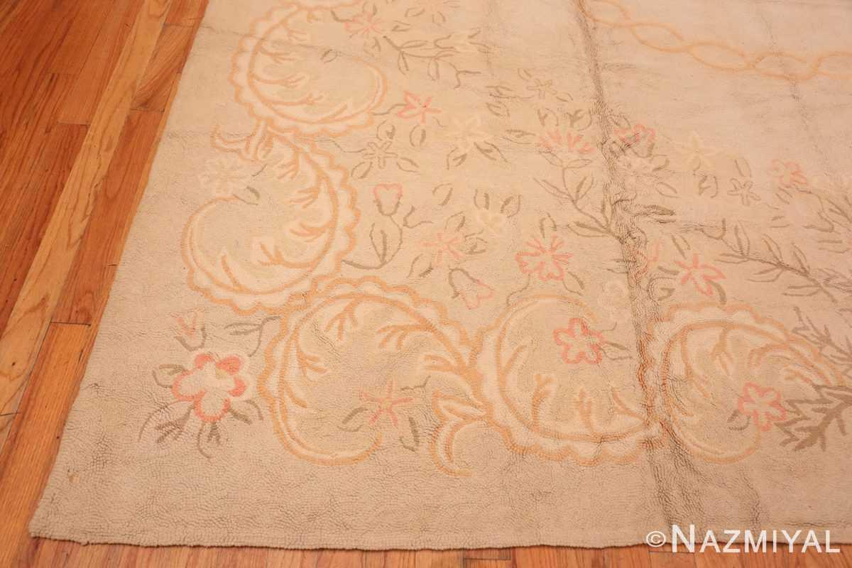 Corner Large Antique American hooked rug 2030 by Nazmiyal