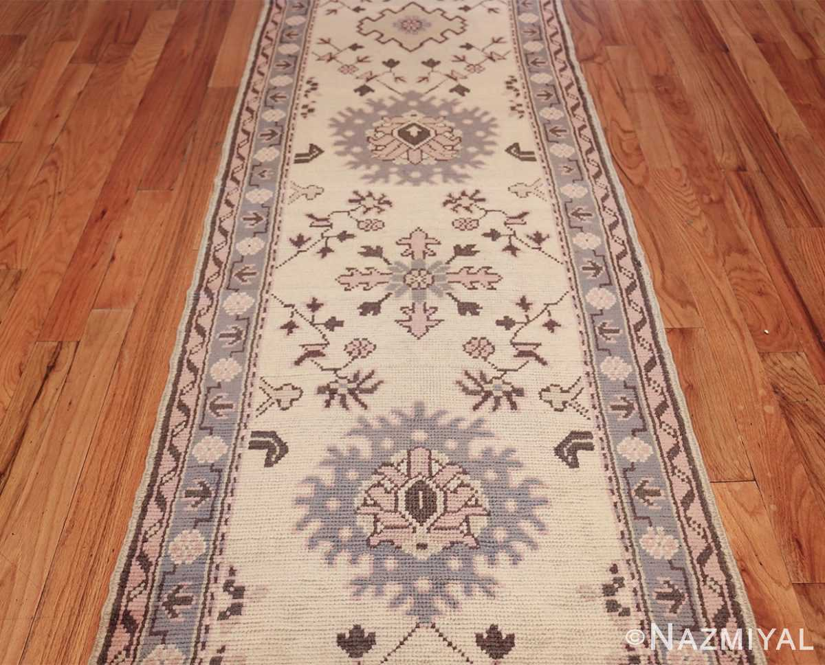 decorative antique turkish oushak runner rug 41776 center Nazmiyal