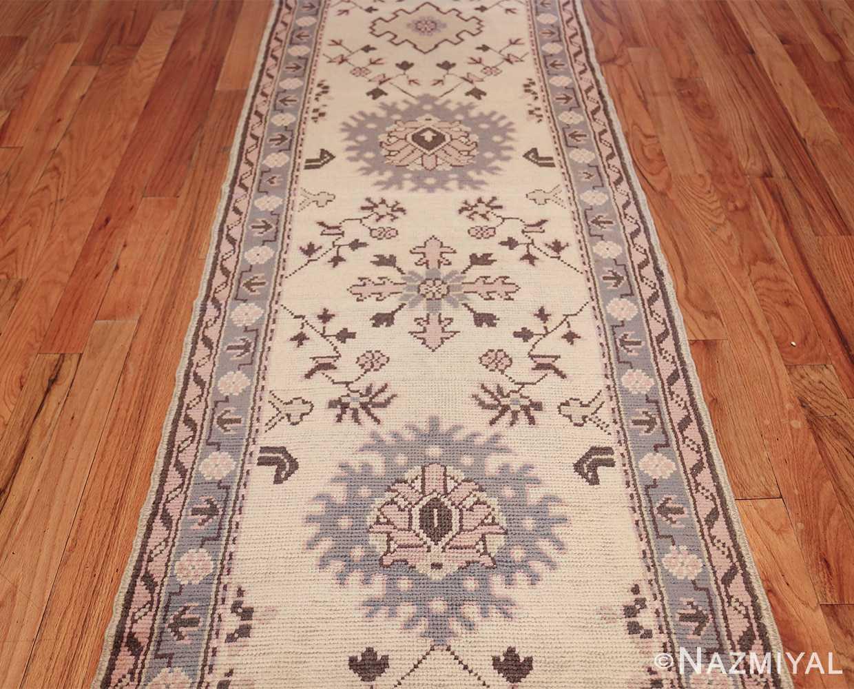 decorative antique turkish oushak runner rug 41776 center Nazmiyal