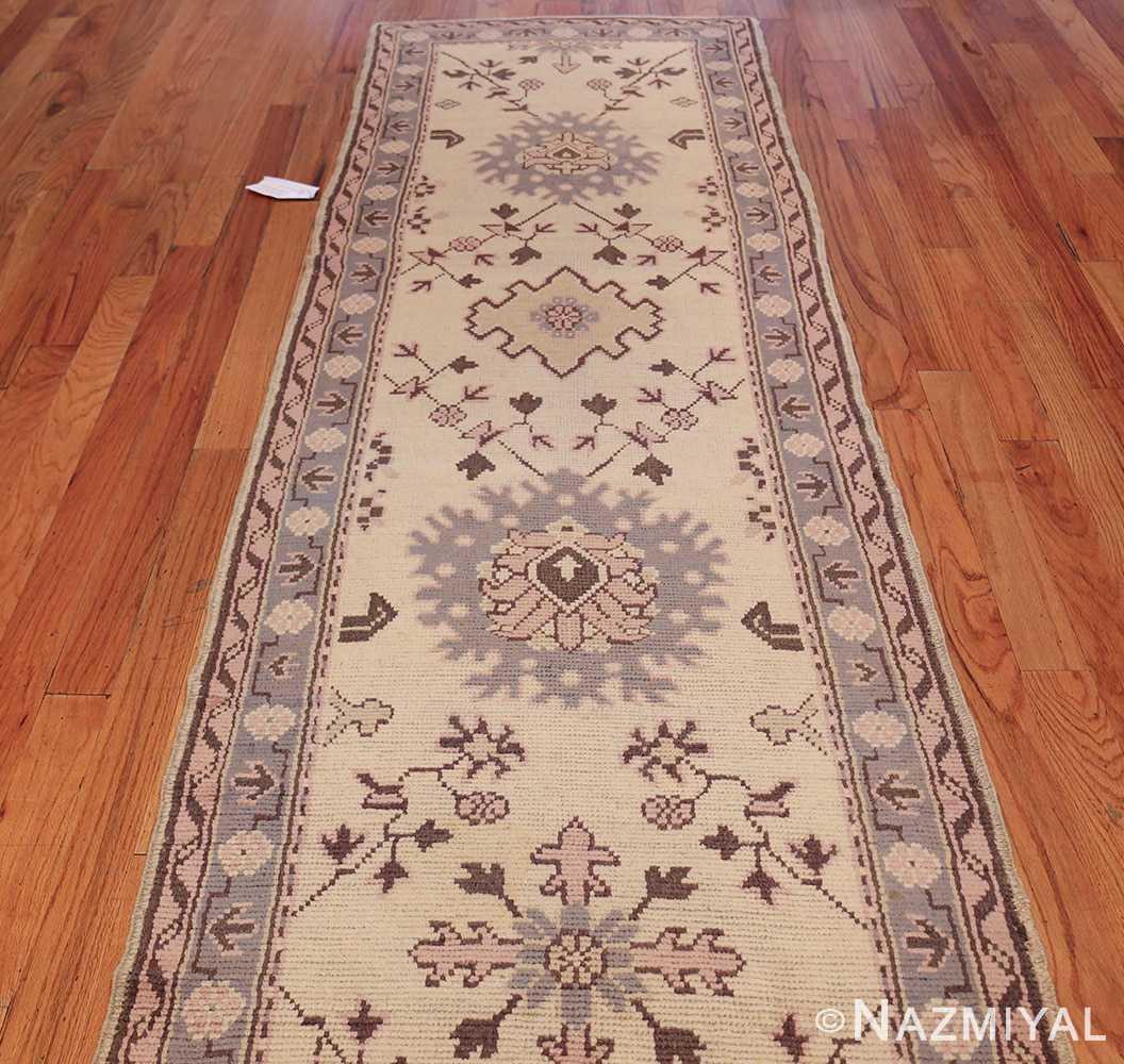 decorative antique turkish oushak runner rug 41776 field Nazmiyal